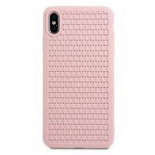 Чехол для iPhone XS Baseus Weaving case ( Розовый)