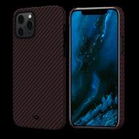 """Чехол Pitaka MagEZ Case для iPhone 12/12 Pro 6.1"""", черно-красный, кевлар (арамид)"""