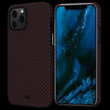 """Чехол Pitaka MagEZ Case для iPhone 12 Pro Max 6.7"""", черно-красный, кевлар (арамид)"""