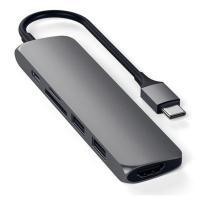 USB-C адаптер Satechi Type-C Slim Multiport Adapter V2, Space Gray