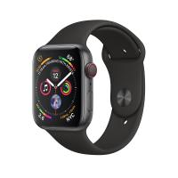 Apple Watch Space Gray Series 4 44 mm GPS+Cellular Aluminum Case with Black Sport Band