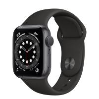 Apple Watch 6 40mm GPS Space Gray Aluminum Case with Black Sport Band