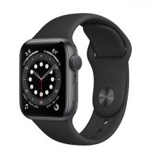 Apple Watch 6 44mm GPS Space Gray Aluminum Case with Black Sport Band