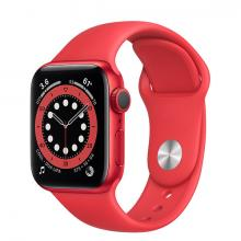 Apple Watch 6 44mm GPS Red Aluminum Case with Red Sport Band