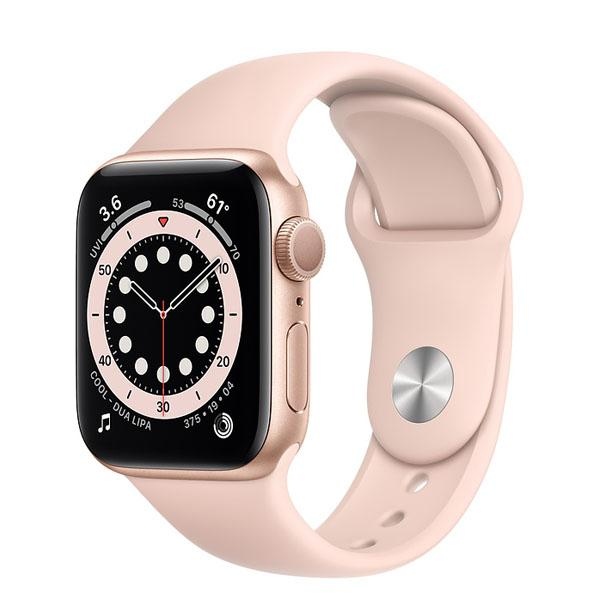 Apple Watch 6 44mm GPS Gold Aluminum Case with Rose Gold Sport Band