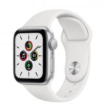 Apple Watch SE 44mm GPS Silver Aluminum Case with White Sport Band