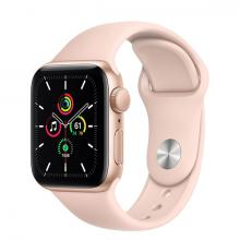 Apple Watch SE 44mm GPS Gold Aluminum Case with Rose Gold Sport Band