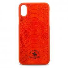 Чехол для iPhone X Santa Barbara Knight PC+кожа (Красный)