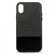 Чехол для iPhone X Santa Barbara Virtuoso силикон+кожа (Черный)