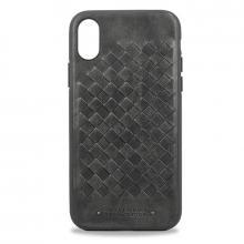 Чехол для iPhone X Santa Barbara Ravel силикон+кожа (Серый)