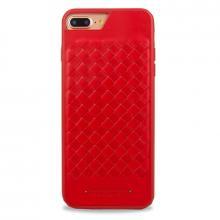 Чехол для iPhone 7+ Santa Barbara Ravel силикон+кожа (Красный)