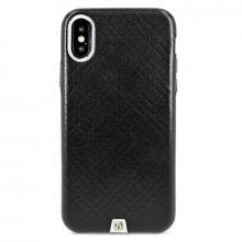 Чехол для iPhone X iCarer Кожаная накладка (Черный)