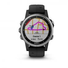 Смарт Часы Garmin Fenix 5S Plus Silver / Black Band