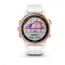 Смарт Часы Garmin Fenix 5S Plus Sapphire Rose Gold / White Band