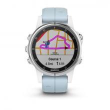 Смарт Часы Garmin Fenix 5S Plus White / Blue Band