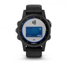 Смарт Часы Garmin Fenix 5S Plus Sapphire Black / Black Band