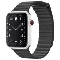 Apple Watch S5 44mm (Cellular) White Ceramic Case / Black Leather Loop