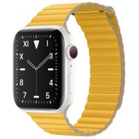 Apple Watch S5 44mm (Cellular) White Ceramic Case / Meyer Lemon Leather Loop