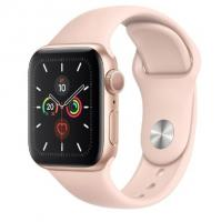 Apple Watch 5 40mm Rose Gold Aluminum Case with Gold Sport Band